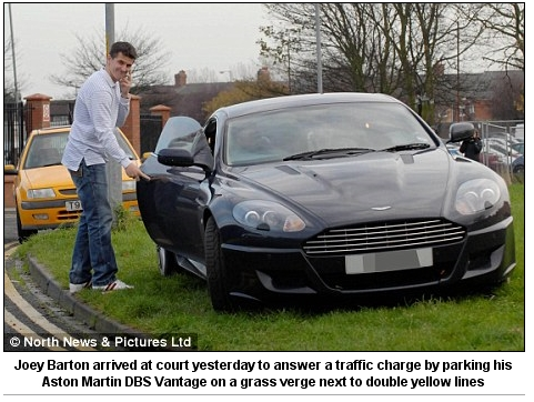 Joey+Barton+car+Grass