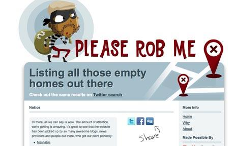 Please Rob Me website 'tells burglars when Twitter users are not home' thumbnail